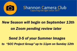 Shannon Camera Club Notice